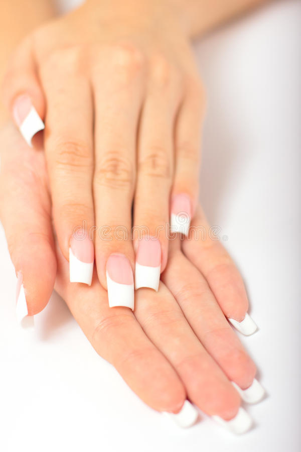 Download Beautiful Female Hands With French Manicure Stock Photo - Image: 22041986