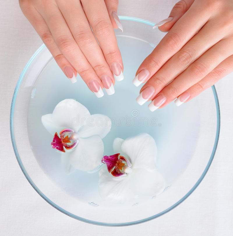 Beautiful Female Hands  Getting Spa Procedure Stock Images