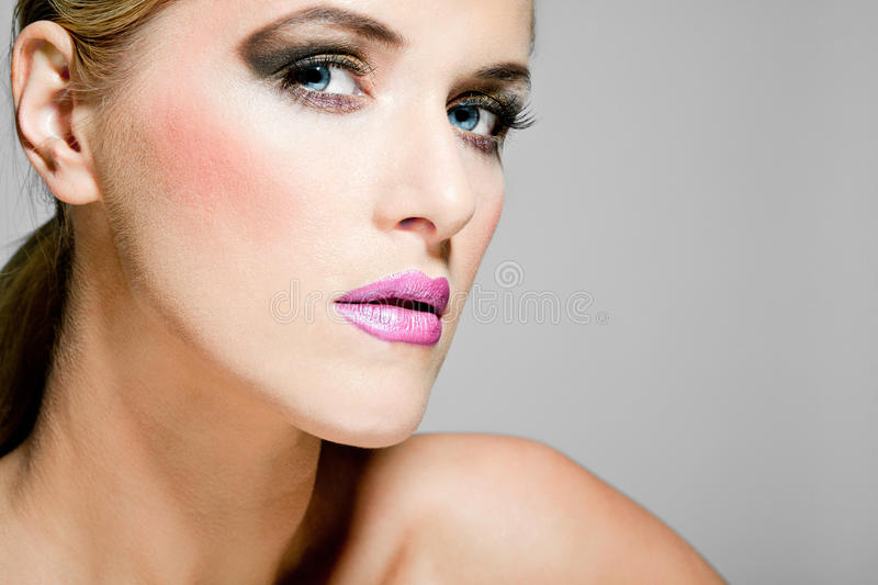 Download Beautiful Female Model With Full Makeup. Stock Photo - Image: 23123760