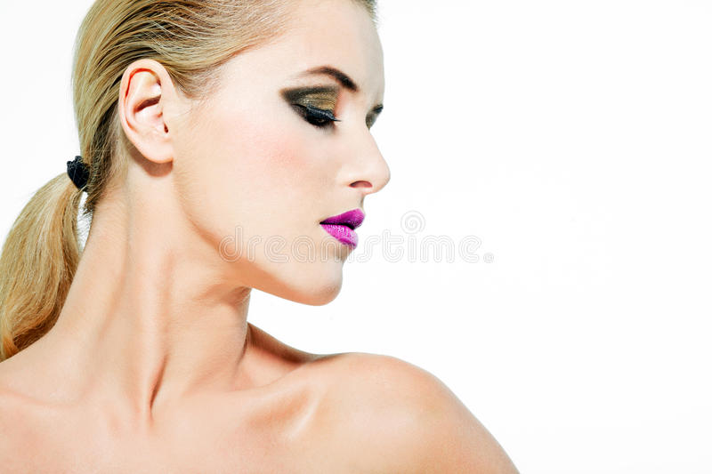 Download Beautiful Female Model With Full Makeup. Stock Image - Image: 23123765