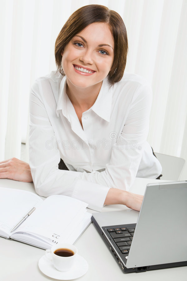 Download Beautiful Female Office Worker Stock Image - Image: 3050921