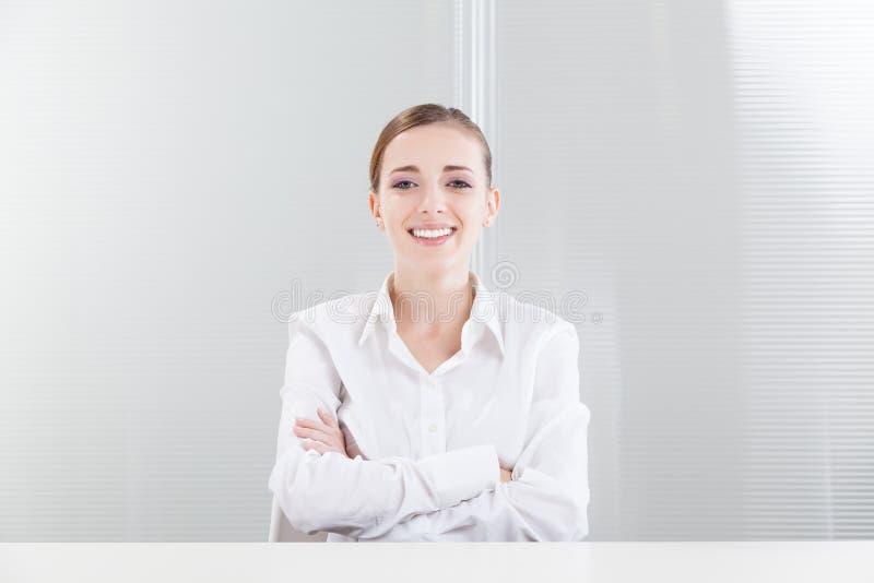 Beautiful Female Professional Smiling stock photos