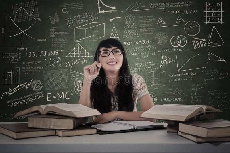 Download Beautiful Female Student Study In Class Stock Image - Image: 31373071
