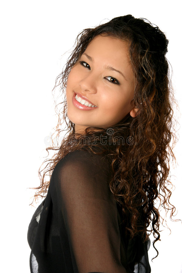 Beautiful female teen royalty free stock photo