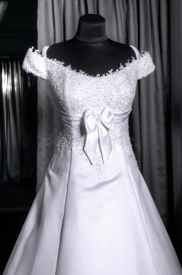 Download Detail Of A Weddings Dress On A Mannequin Stock Image - Image: 30064861