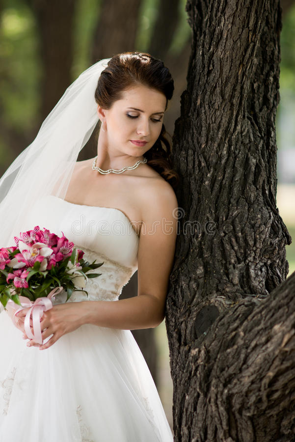 Download Beautiful fiancee stock photo. Image of wedded, bride - 25905652