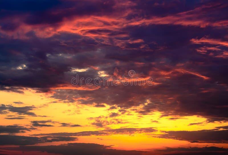 Beautiful fiery orange and purple sunsetBeautiful fiery orange and purple sunset royalty free stock photography