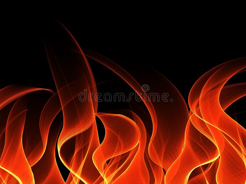 Fire background in the dark. illustration for design. Beautiful Fire background in the dark. illustration for design royalty free stock image