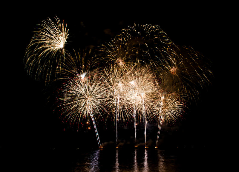 Beautiful firework. Show for celebration stock images