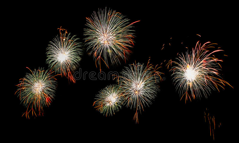 Beautiful firework. Show for celebration stock photography