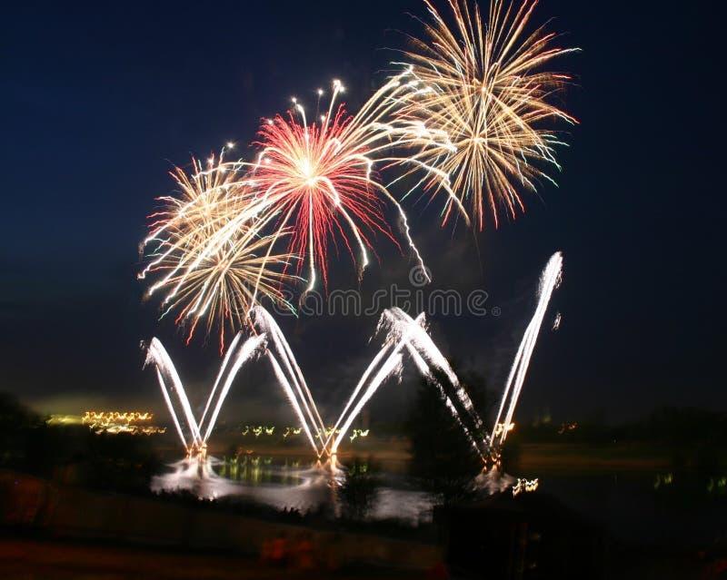 Download Beautiful fireworks stock image. Image of shining, white - 155883