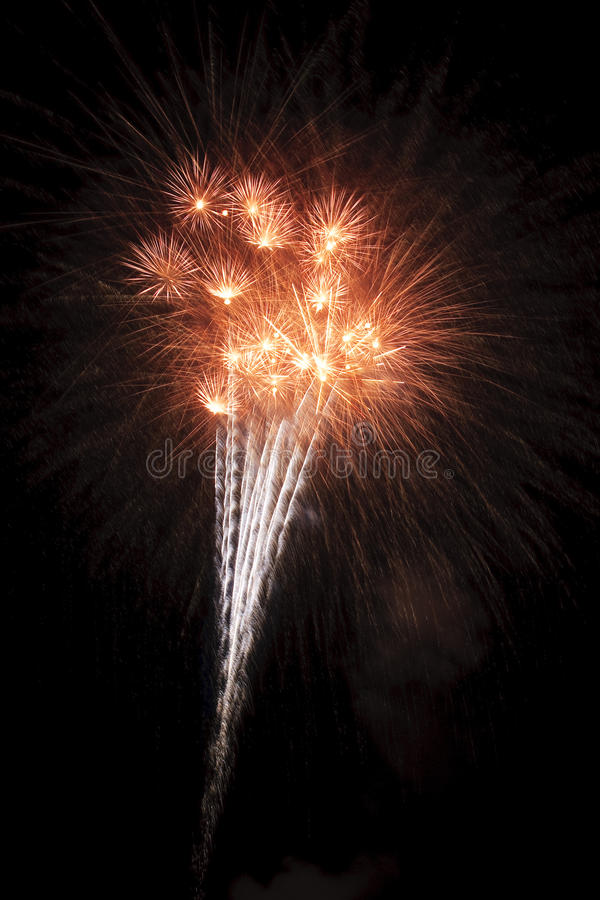Free Beautiful Fireworks Display Lights Up The Nighttime Sky Royalty Free Stock Photography - 11248867