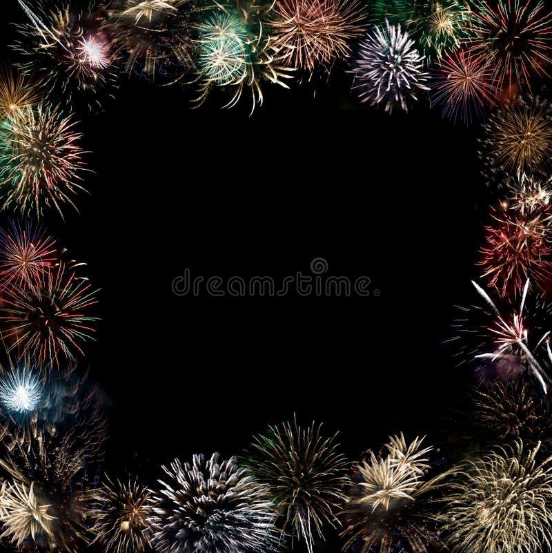 Beautiful fireworks explode royalty free stock photo