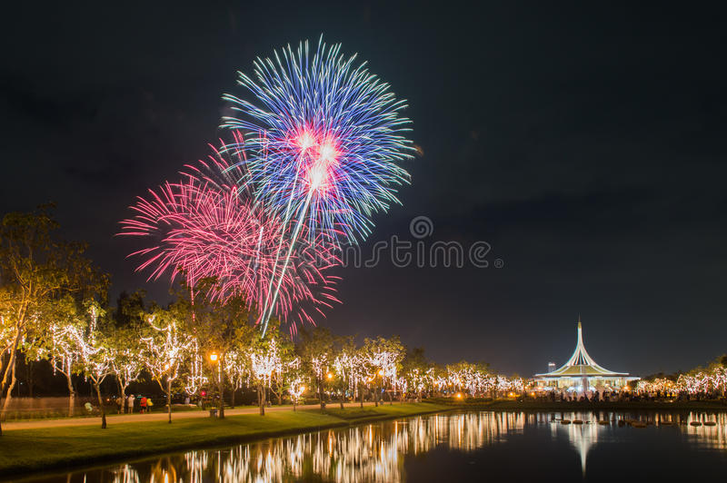 Fireworks Thailand stock photography