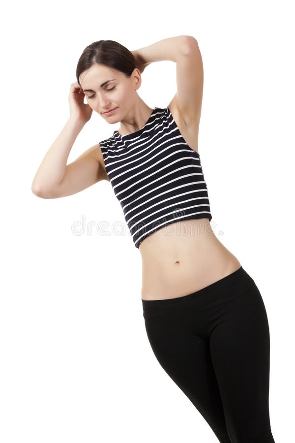 Beautiful Fitness Girl Royalty Free Stock Photography