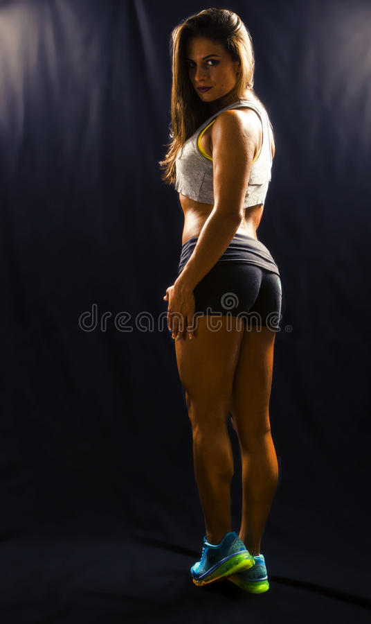 Beautiful fitness model royalty free stock photos