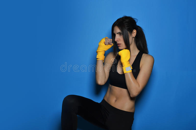 Beautiful fitness woman stock images