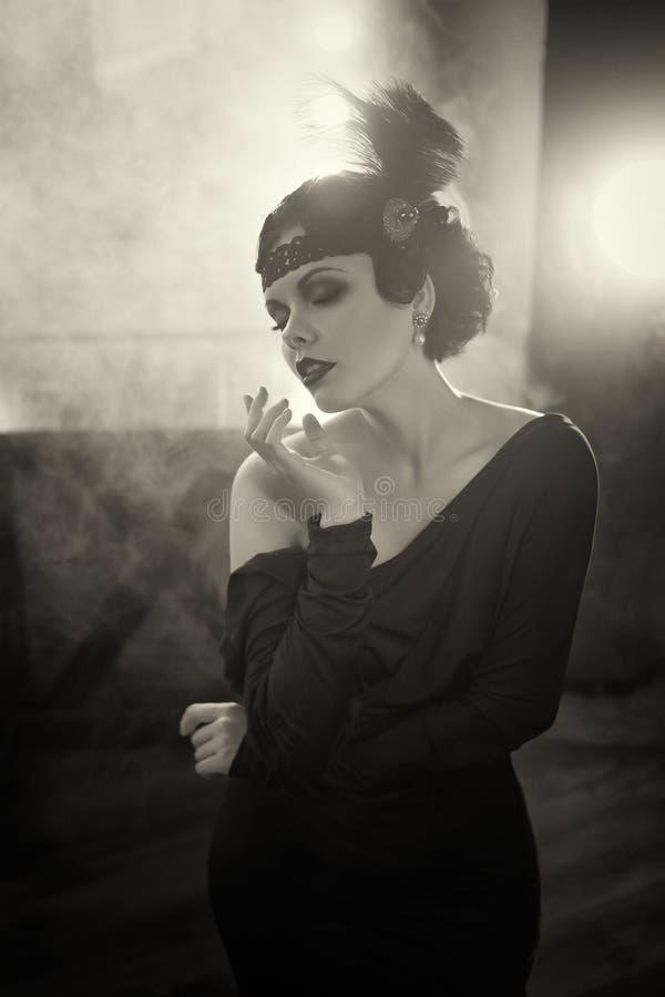 Free Beautiful Flapper Girl Royalty Free Stock Image - 76710876
