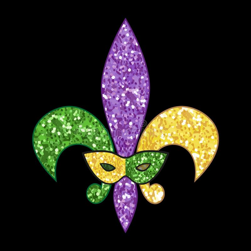 Free Beautiful Fleur De Lis With Shimmer Texture Royalty Free Stock Images - 106253829