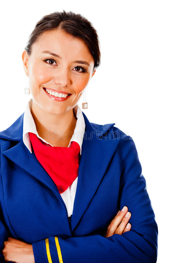 Download Beautiful flight attendant stock photo. Image of occupation - 23693830