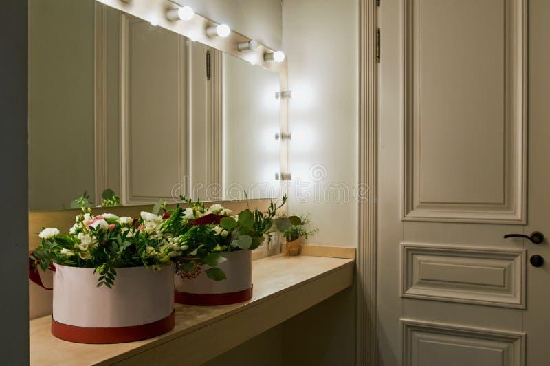 Beautiful floral arrangement stock photos