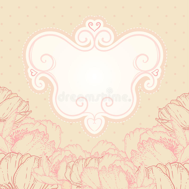 Beautiful floral background vector illustration