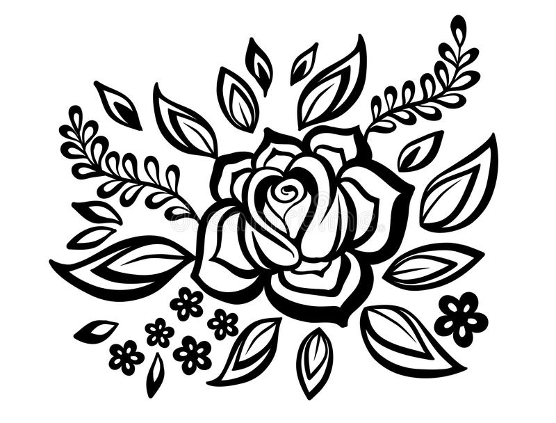 Black and white flowers and leaves design element with imitation download black and white flowers and leaves design element with imitation guipure embroidery mightylinksfo