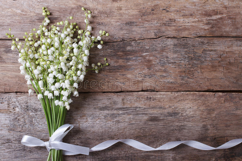 Beautiful floral frame with lilies of the valley royalty free stock photography