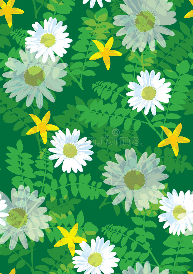 Beautiful floral pattern seamless tile vector illustration
