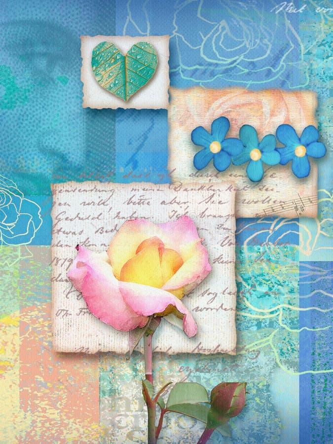 Beautiful floral postcard. vector illustration