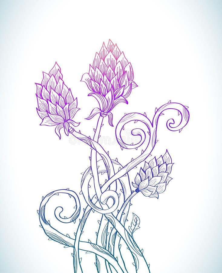 Download Beautiful Floral Prickle Background Stock Illustration - Image: 27965379