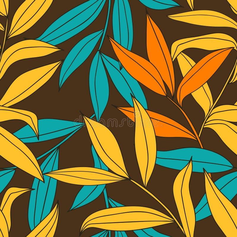 Beautiful floral seamless pattern royalty free illustration