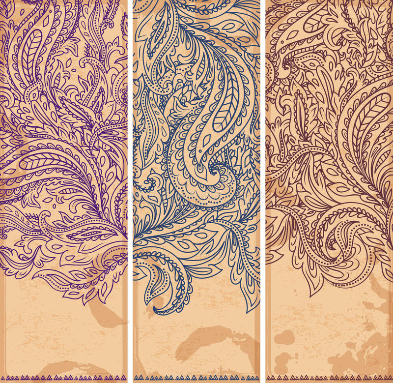 Beautiful Floral Set Of Banners Stock Vector