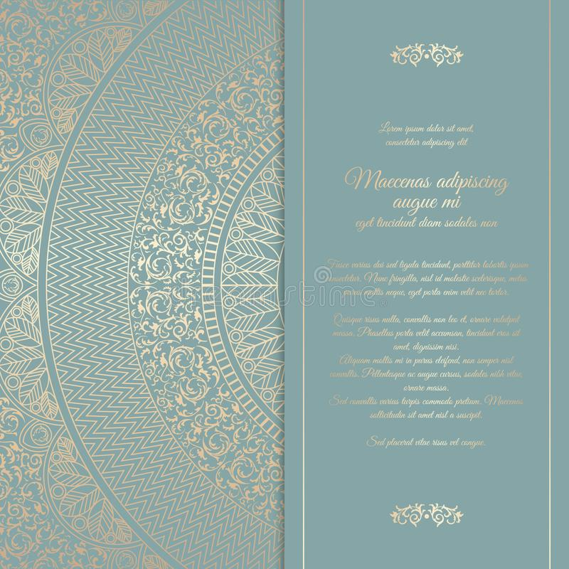 Beautiful floral square invitation card with golden round pattern download beautiful floral square invitation card with golden round pattern vintage wedding cover design template stopboris Gallery