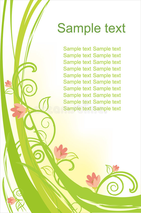 Free Beautiful Floral Vector Background Royalty Free Stock Image - 8453996