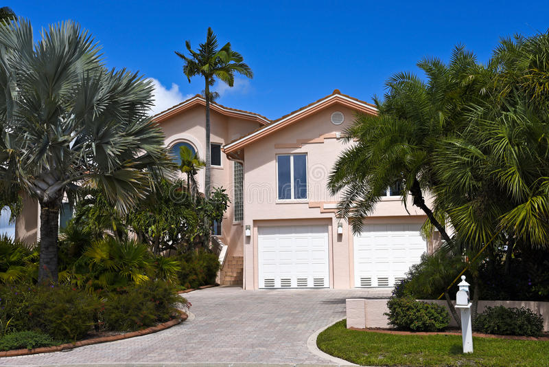 Beautiful Florida House royalty free stock images
