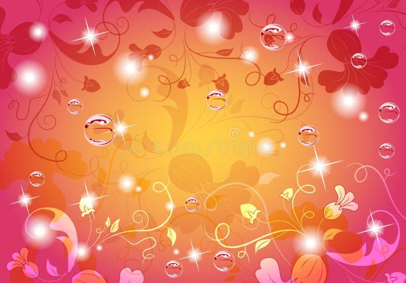 Beautiful flower background stock illustration