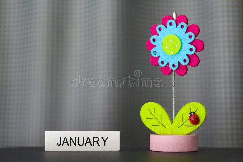 Beautiful flower handmade by colorful felt fabrics stock photos