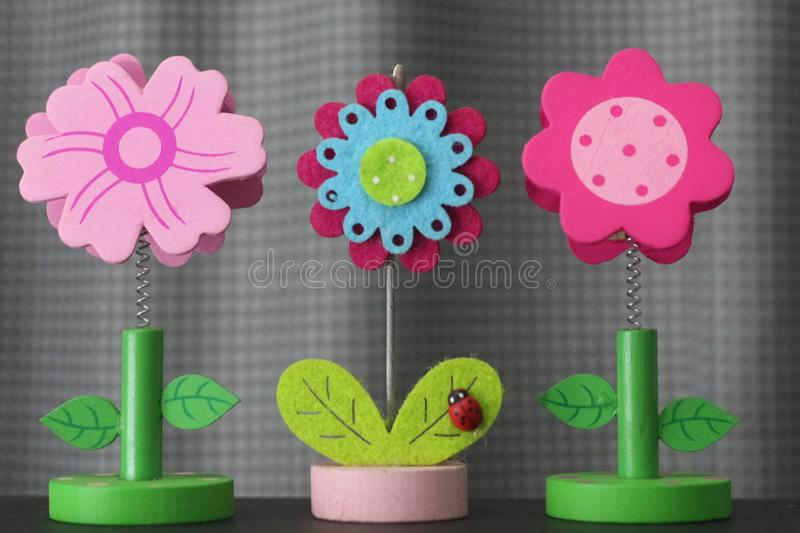 Beautiful flower handmade by colorful felt fabrics stock photography