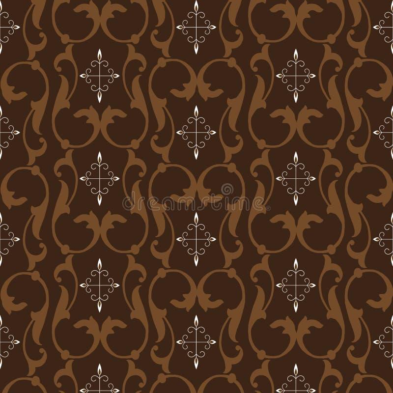 Beautiful Flower Motifs On Batik Design With Simple Dark