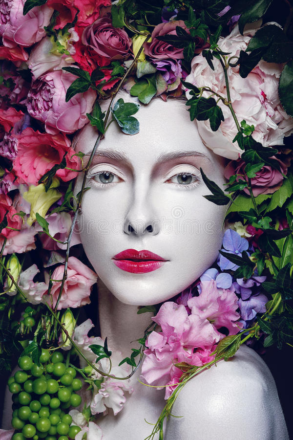 Beautiful flower queen stock photos