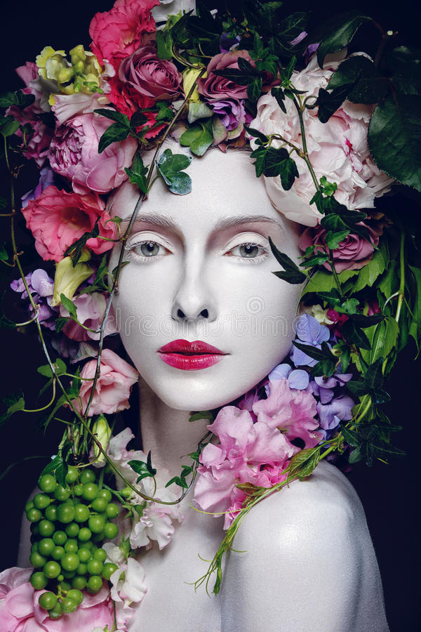 Beautiful flower queen stock photography