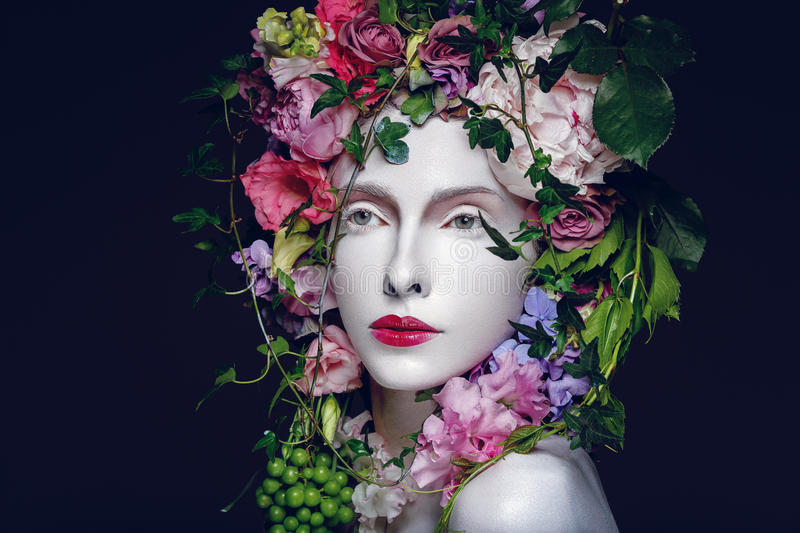 Beautiful flower queen royalty free stock photo