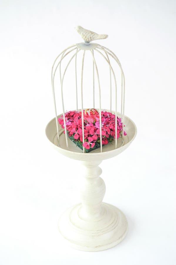 Beautiful flower wedding set up royalty free stock images