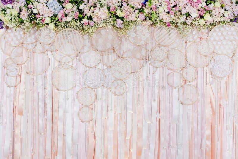 Beautiful flowers background for wedding scene royalty free stock image