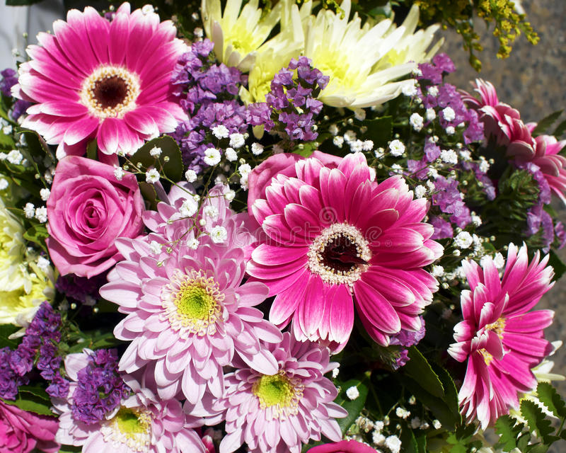 A beautiful flowers bouquet royalty free stock photos