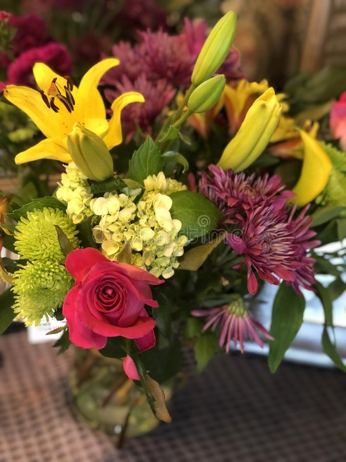 Beautiful flowers from special guy royalty free stock images