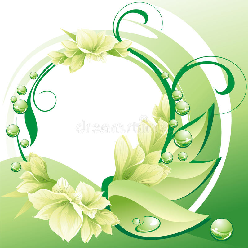 Beautiful flowers frame stock vector. Illustration of illustration ...