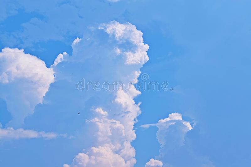 Beautiful fluffy clouds. Beautiful fluffy clouds in the blue sky stock photography