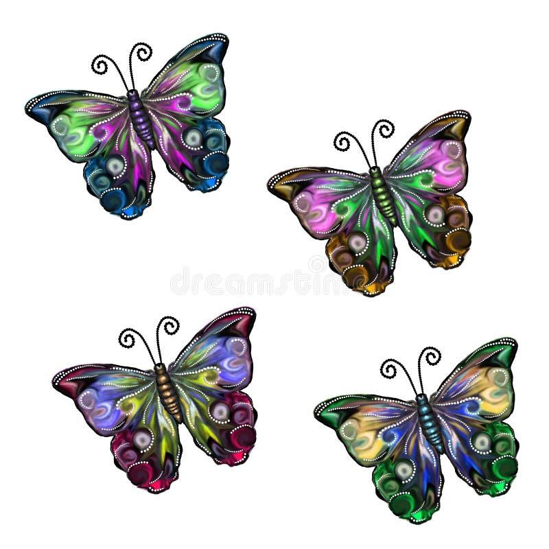 Beautiful Flutters Set stock image